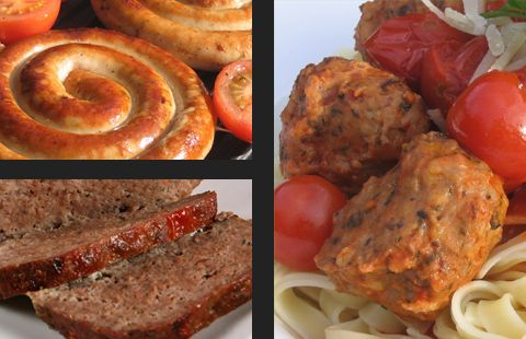 Sausages, meatballs & stuffings